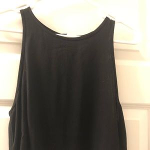 NWT Cropped Black tank top set with black skirt